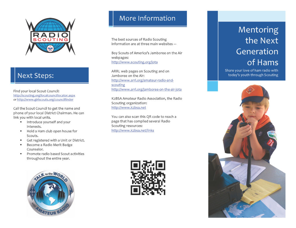 Mentoring Brochure, side one.