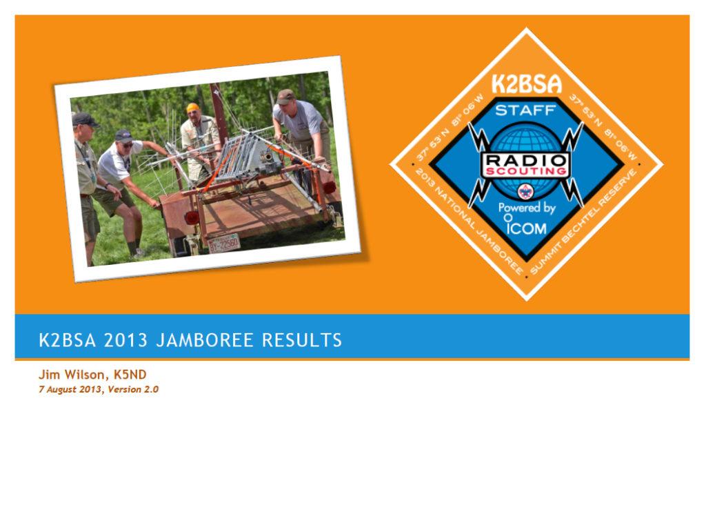 K2BSA 2013 Report Cover