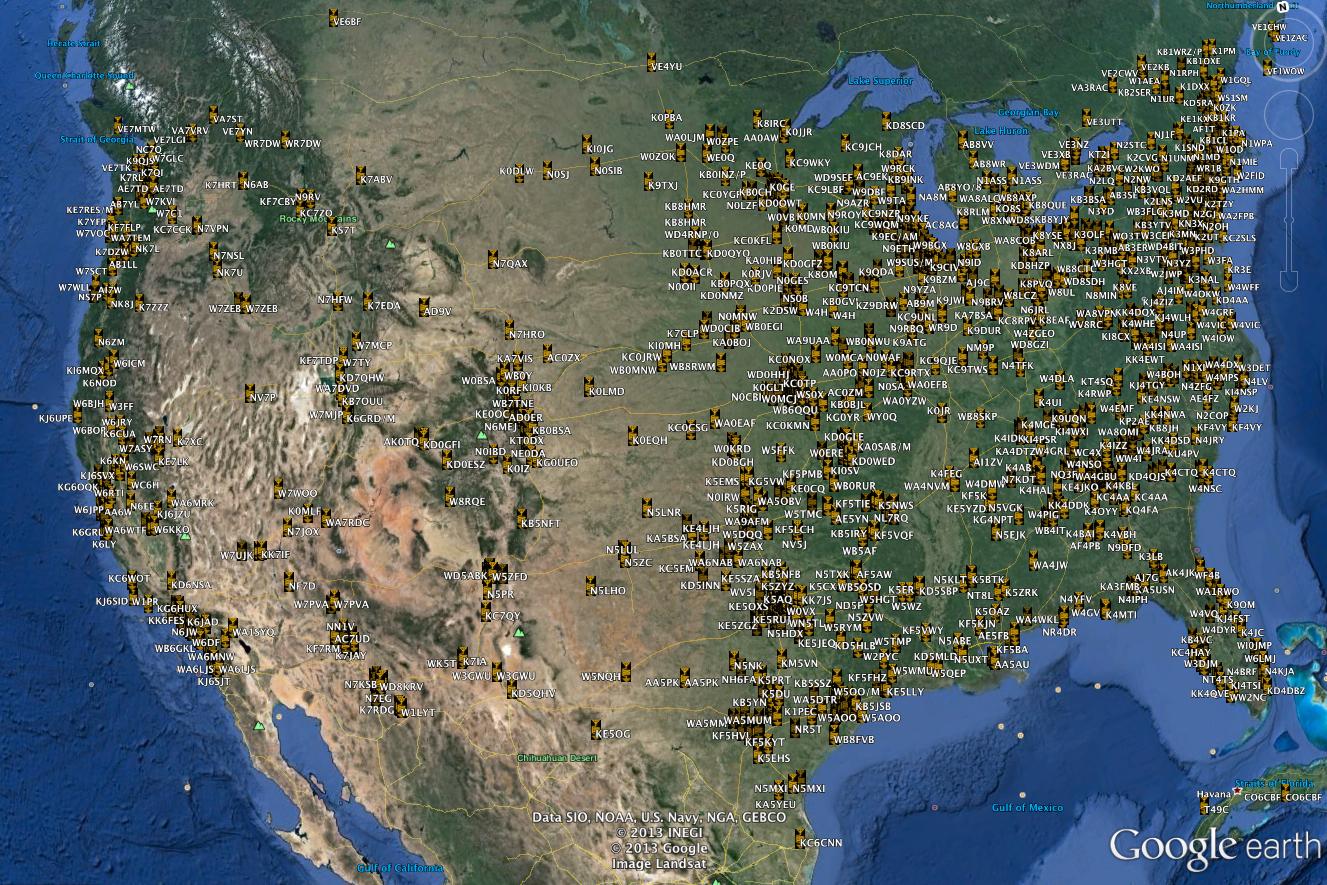 K2BSA Log on Map